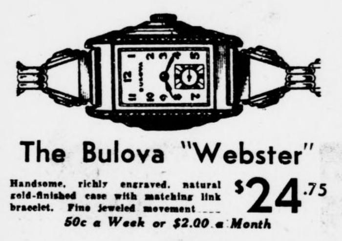 1937 Bulova Webster