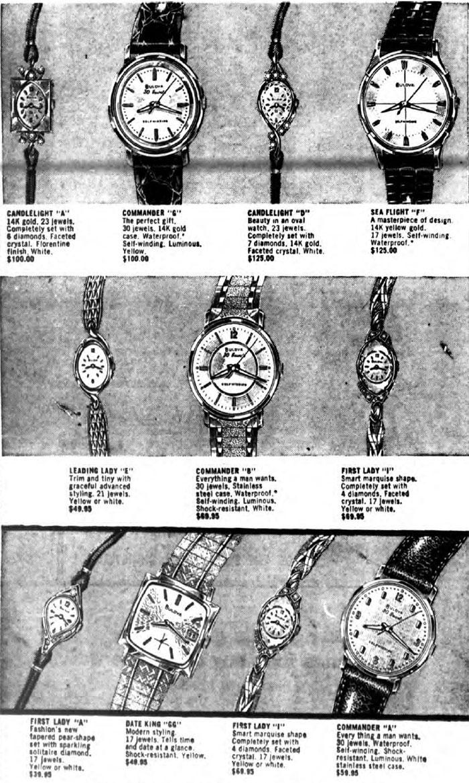 Bulova 1960 watch advert