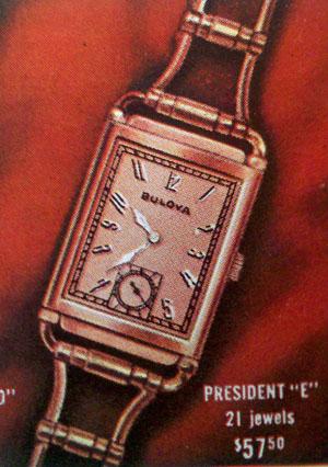 "1940s Bulova President ""E"""
