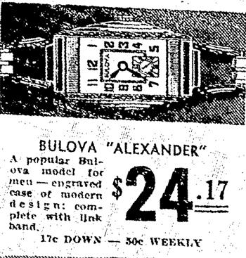Bulova Alexander watch