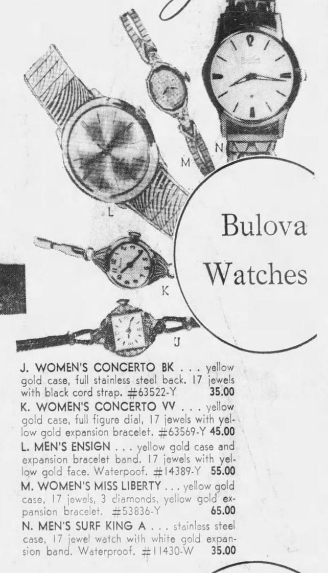 1965 Bulova Ensign watch