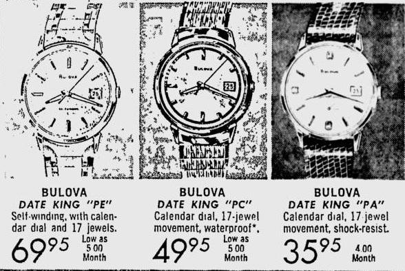1966 Bulova advert