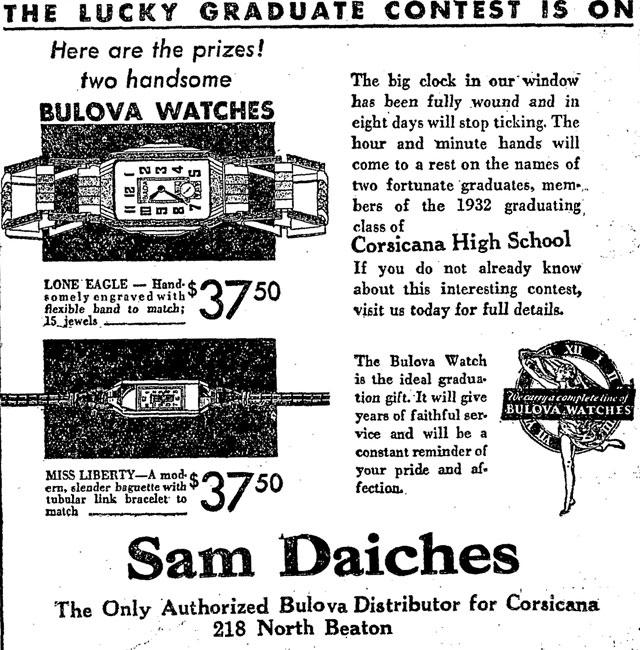 From Bobbee The Corsicana Sun, Texas. May 1932