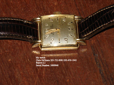 My Bulova watch