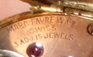 1920s Bulova Precision Ladies Movement Favre