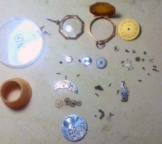 1920 Bulova Rubaiyat watch parts