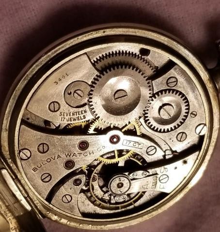 1926 Bulova Pocket Watch Movement