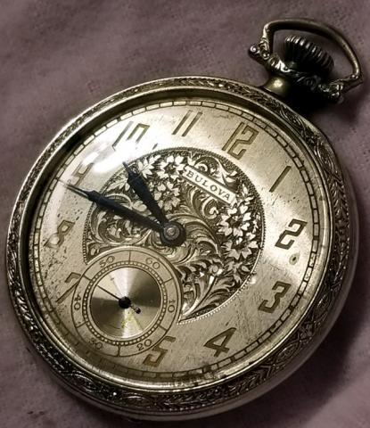 1926 Bulova Pocket Watch Right