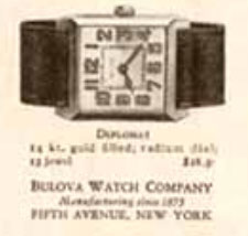 1925 Bulova Diplomate watch