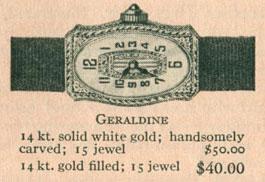 1926 Bulova Geraldine watch