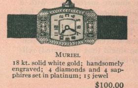 1926 Bulova Muriel watch