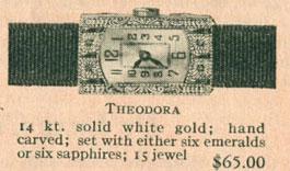 1926 Bulova Theodora watch