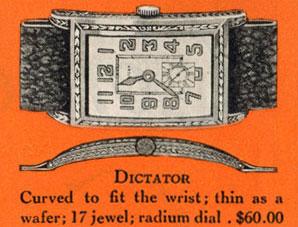 1927 Bulova Dictator watch