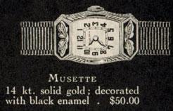 1927 Bulova Musette watch