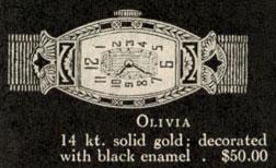 1927 Bulova Olivia watch