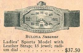 1927 Bulova Suzanne watch