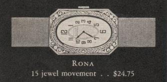 1928 Bulova Rona watch