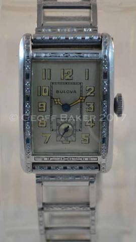 1930 Bulova President watch Geoffrey Baker