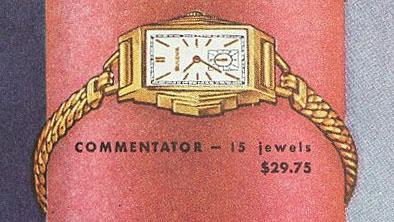 1938 Bulova Commentator watch