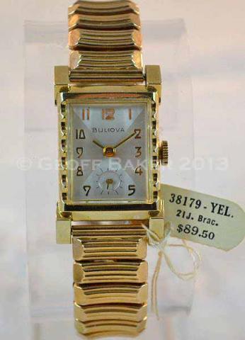 Geoffrey Baker 1954 Bulova 38179-Y watch 6/18/2013