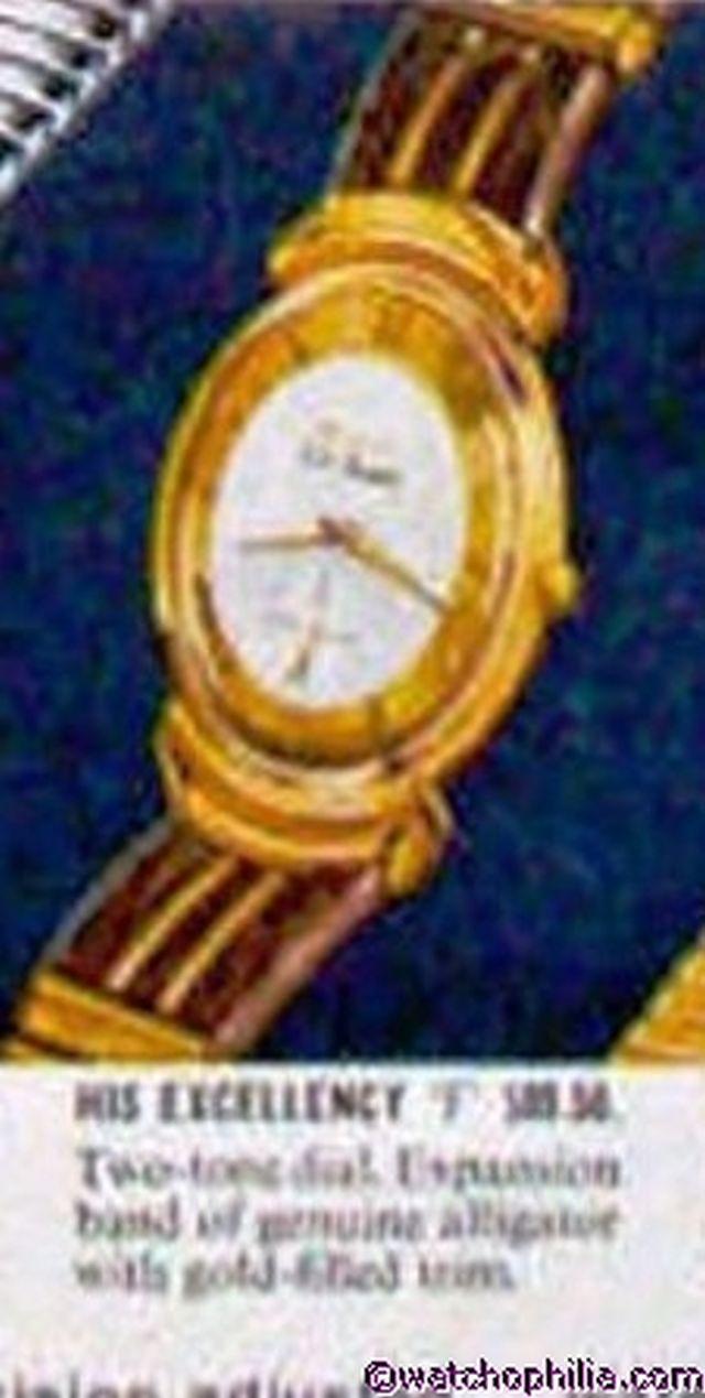 Bulova watch advertisement
