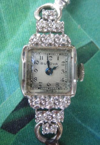1951 12 diamond 14K Bulova Roxanne
