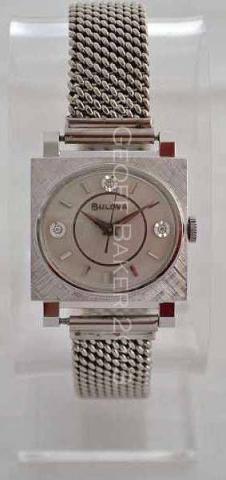 Geoffrey Baker 1964 Bulova White Gold Watch 12 04 2013