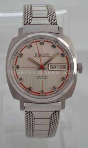 Geoffrey Baker 1970 Bulova Oceanographer Watch 11 21 213