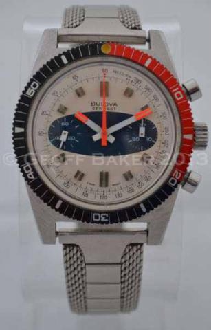 Geoffrey Baker 1970 Bulova Chronograph