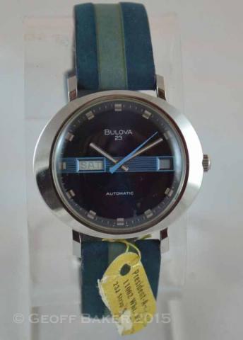 1973 Bulova President A 11002-W Geoffrey Baker