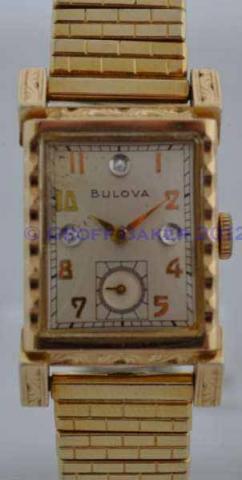 Geoffrey Baker 1949 Bulova Tuxedo Watch 10 27 2012