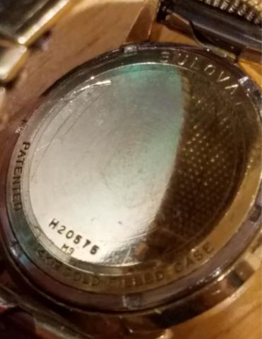 1969 Bulova Accutron Watch Case Back