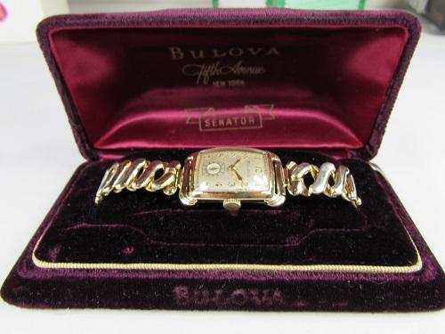 1943 Senator Bulova Gold color watch box