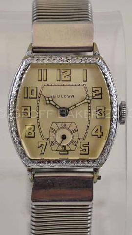 Geoffrey Baker 1930 Bulova Treasurer watch 11 19 213