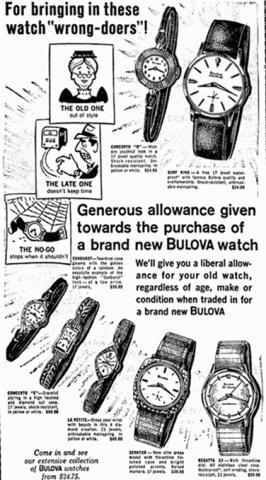 [10-1964] Bulova watch full ad
