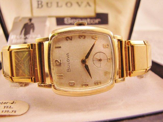 """1960 Bulova Senator """"J"""" 17J 11AF"""