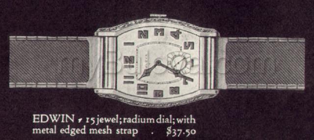 1929 Bulova Edwin watch