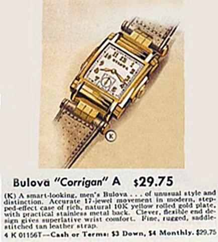 Bulova Corrigan advertisement