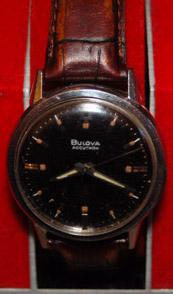 Black Dial Bulova Accutron 214 SS