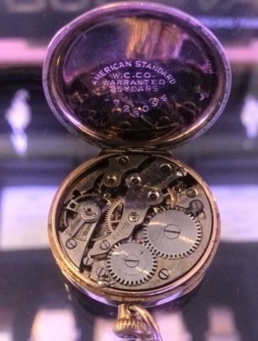 1917 Bulova Rubaiyat watch movement and case