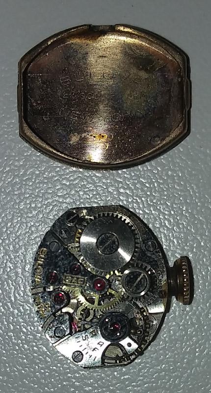 1947 Bulova watch inside