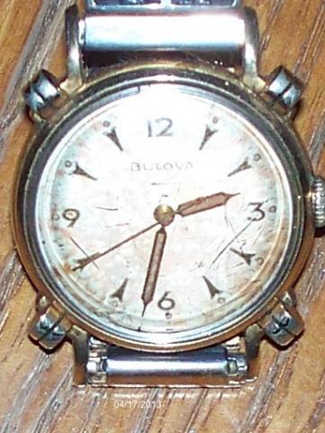 Bulova men's watch dated 1953 model Neptune style 113Y