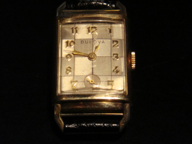 checkerboard Bulova watch face