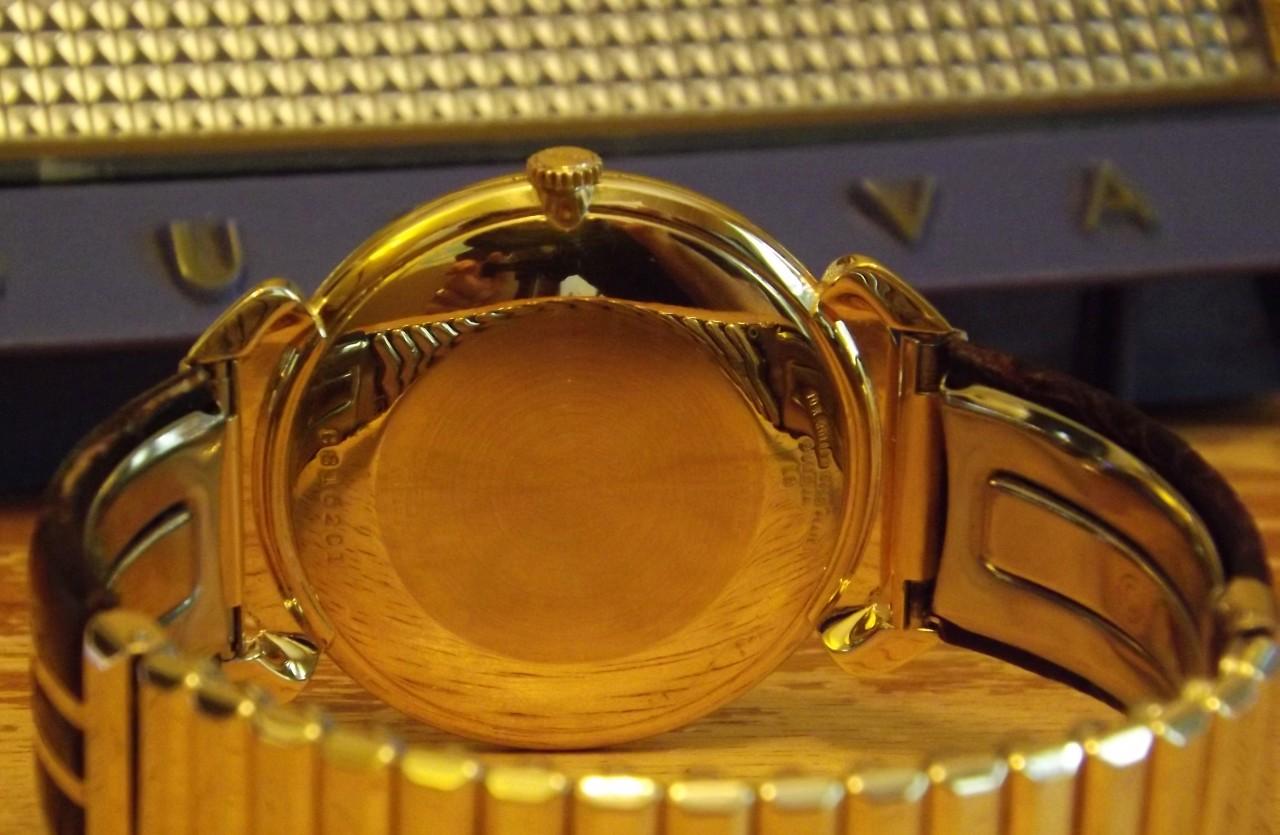 Bulova watch, back view