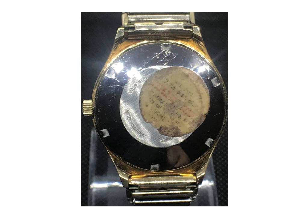 [Set-o-matic back view_year-1977] Bulova watch