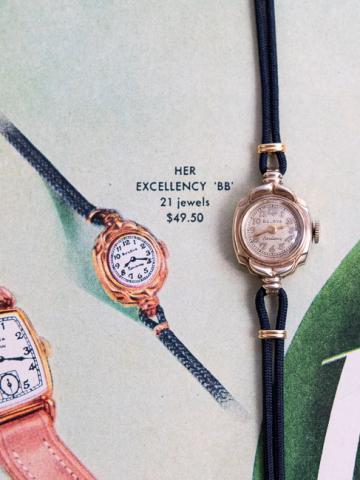 1949 Bulova Her Excellency BB watch