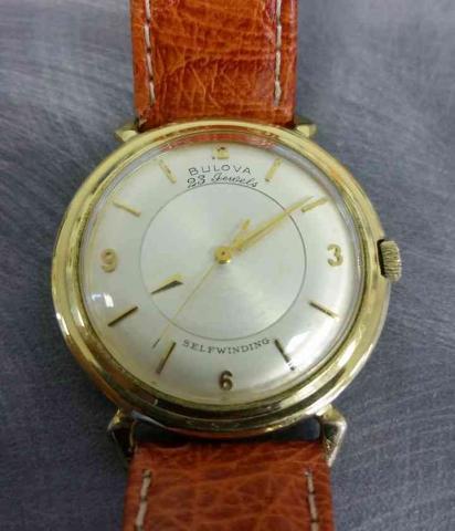 1959 Bulova 23 Mystery Dial watch