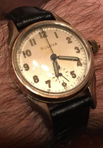 1942 Bulova Stop Watch Chronograph (Wrist)