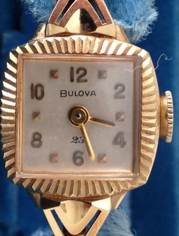 1956 18k Bulova watch