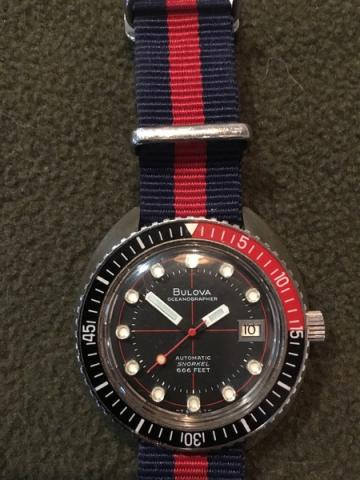 1972 Oceanographer Bulova watch